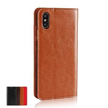 804b3e60a71a Amazon | iPhone Xs ケース iPhone X ケース 手帳型 Camel / 手にして ...