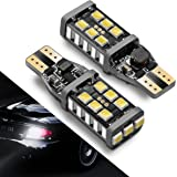 912 921 LED Backup Light Bulbs SEALIGHT 1000 Lumen High Power 2835 15-SMD Chipsets Extremely Bright Error Free T15 906 W16W for Back Up Lights Reverse Lights, 6000K Xenon White