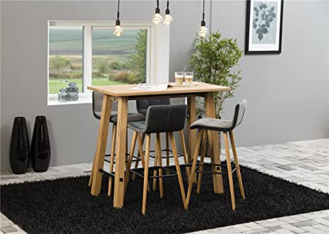 Tavolo da pranzo con sedie massiccio bar sedia con schienale in