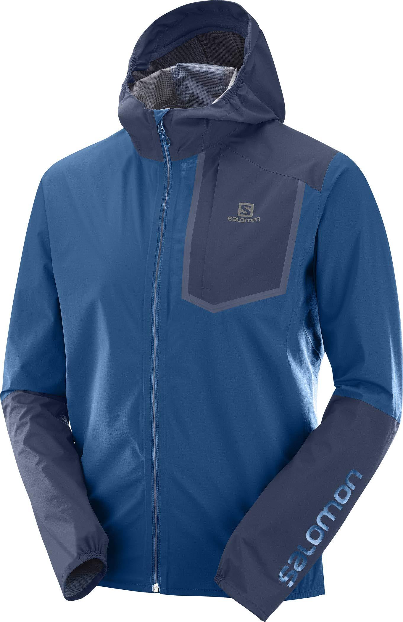 Salomon Men's Bonatti Pro WP Jacket, Poseidon/Night Sky, Medium