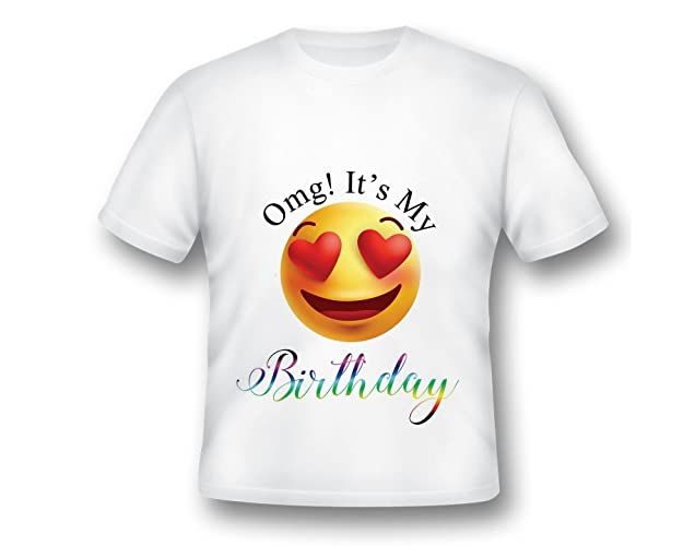 Emoji Birthday Shirt Party Custom Omg Its My