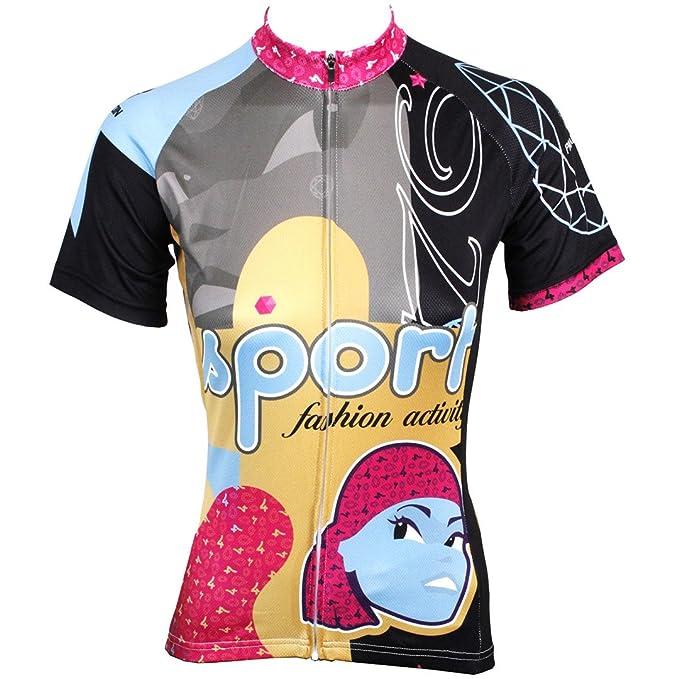 Kranchungel Cycling Jersey for Women Short Sleeve Cartoon ...