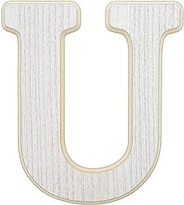 Wood Wall Decor, Wooden Letter U (12 in)
