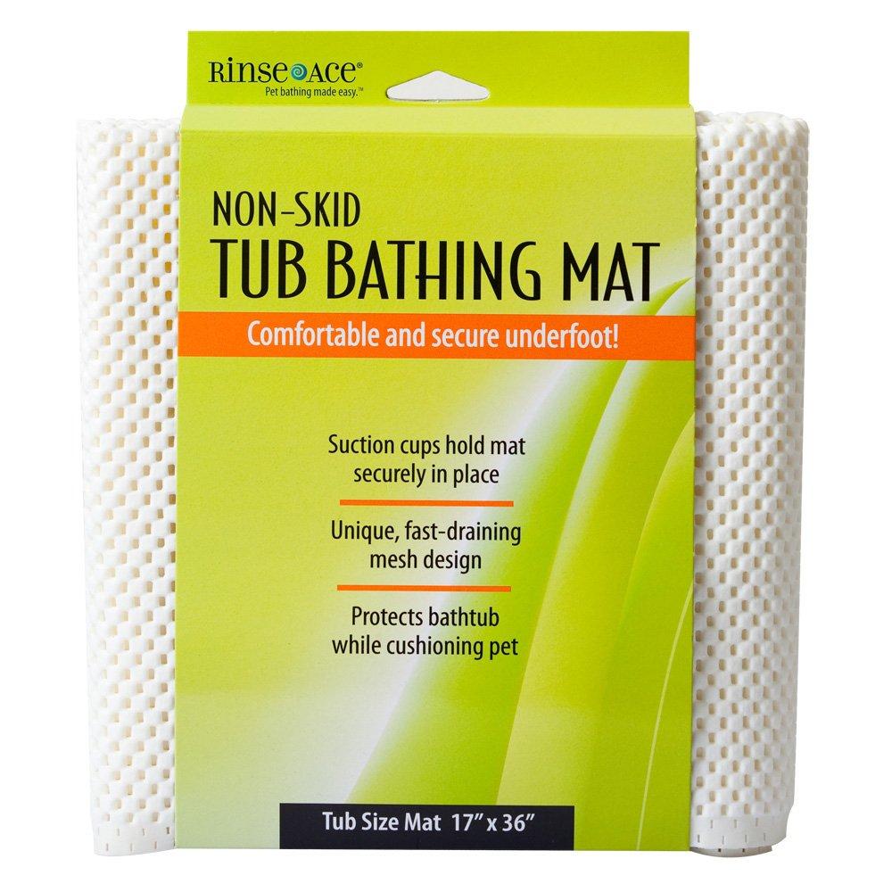 Amazon.com: Rinse Ace Pet Bathing Mat, Tub & Shower 17\' x 36\': Home ...