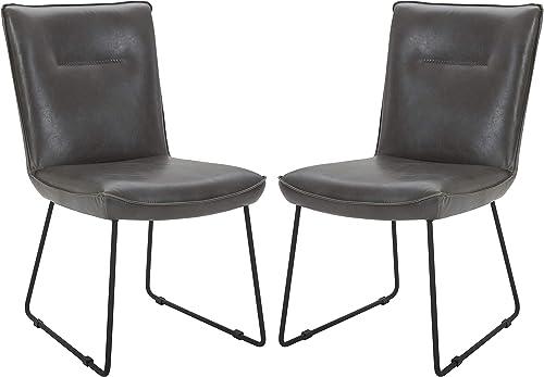 Amazon Brand Rivet Logan Mid-Century Modern Faux Leather Dining Chair
