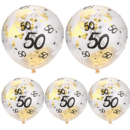 Igemy 5 Pcs 30 40 50 Ans Joyeux Anniversaire âge Confettis Garni Ballons Fête De Mariage Décor C