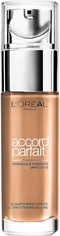 L'Oréal Paris Accord Parfait Base maquillaje acabado natural tono de piel bronceado 8R Noisette 30 ml L' OreaL A93359
