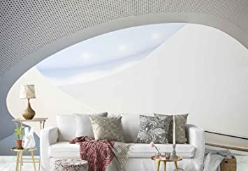 Papel Tapiz Fotomural - Blanco Escalera De Caracol Techo - Tema Arquitectura - XXL - 416cm x 290cm (an. x alto) - 4 Tiras - impreso en papel 130g/m2 EasyInstall - 1X-1033491VEXXXXL: Amazon.es: Bricolaje y herramientas