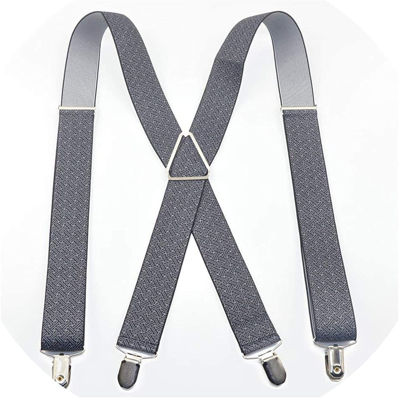MenS Suspenders 4 Clips for Men WomenS Pants With Braces Adjustable Suspenders 3.5100Cm