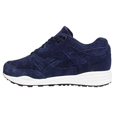 98f2e5fdc050 Reebok Classic Fan Perforated Mens Trainers Blue V66576
