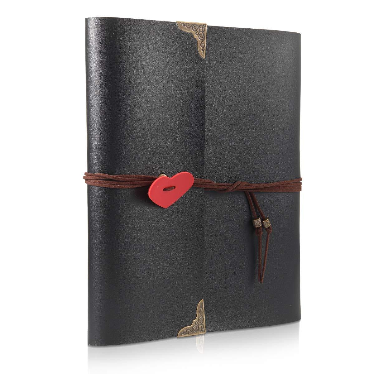 ThxMadam Scrapbook Cuero Álbum de Fotos Libro de Visitas