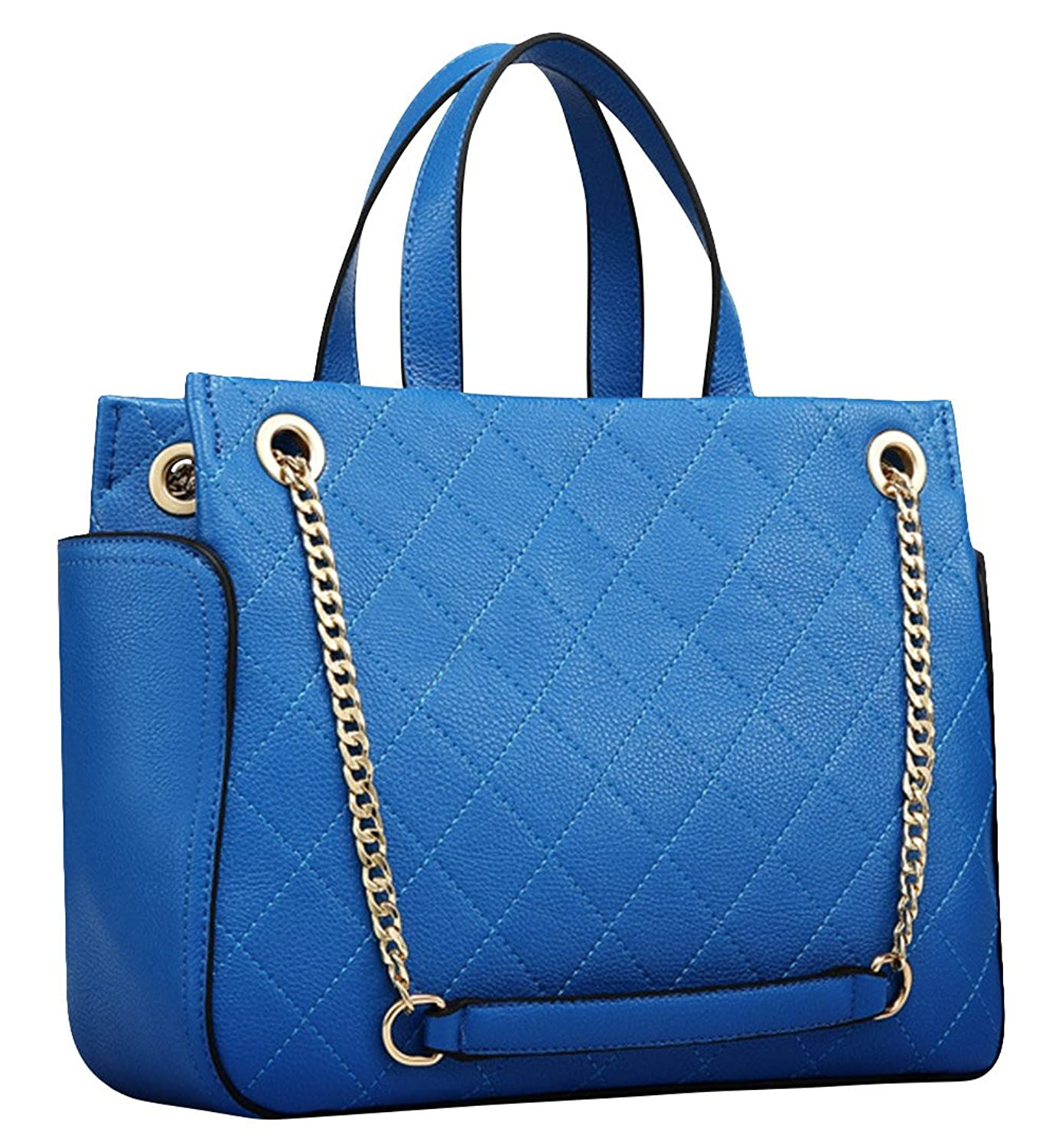 Hellofashion Women's Quilted Continuity Shoulder Handbag Blue One size