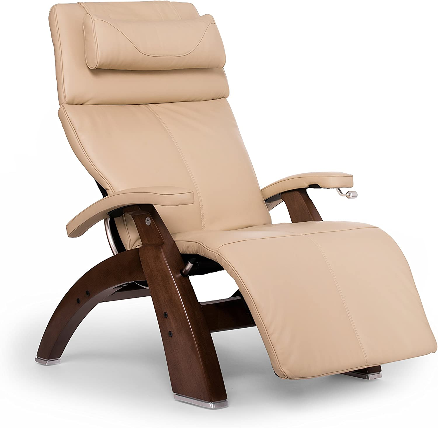 Human Touch Perfect Chair PC-420 Classic Plus Premium Full Grain Leather Zero Gravity Recliner, Ivory