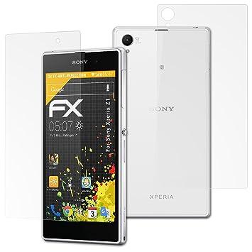 atFoliX Película Protectora para Sony Xperia Z1 Lámina Protectora ...