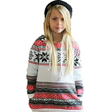 b4f7992f64235 Anglewolf Toddler Kids Baby Girl Stripe Christmas Hoodie Sweatshirt Tops  Hooded Pullover Soft Cotton Casual Fashion Christmas Clothes for 1~4 Years  Old Baby ...