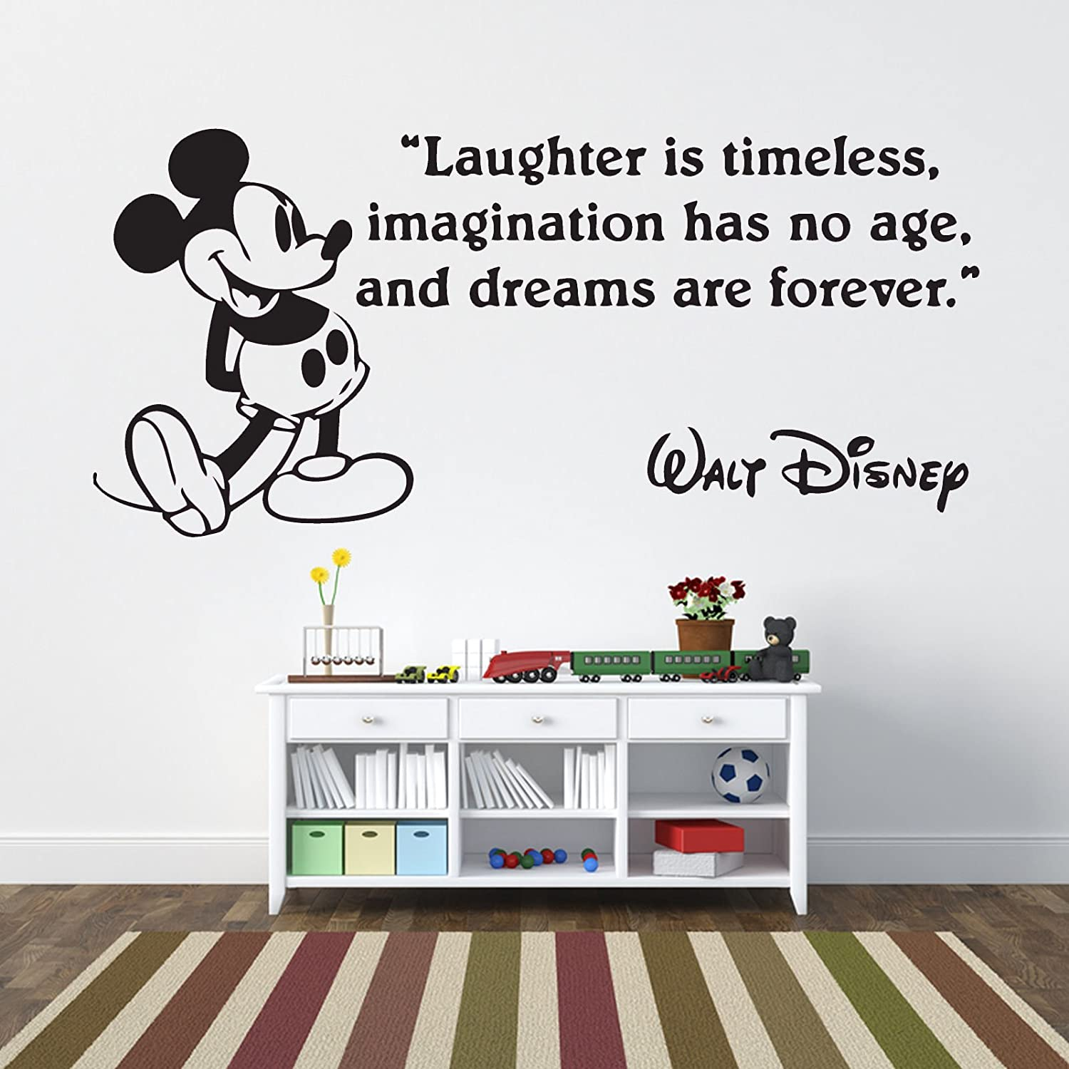 Wonderful Mickey Mouse Laughter Is Timeless Childrenu0027s Wall Sticker Vinyl Mural Wall  Art Décor   Regular Size: Amazon.co.uk: Kitchen U0026 Home Part 13