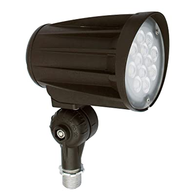 ASD 28W LED Bullet Flood Lights with Knuckle Mount, 5000K (Daylight) 3200lm IP65, Waterproof Outdoor Landscape, Bronze, UL& DLC Listed