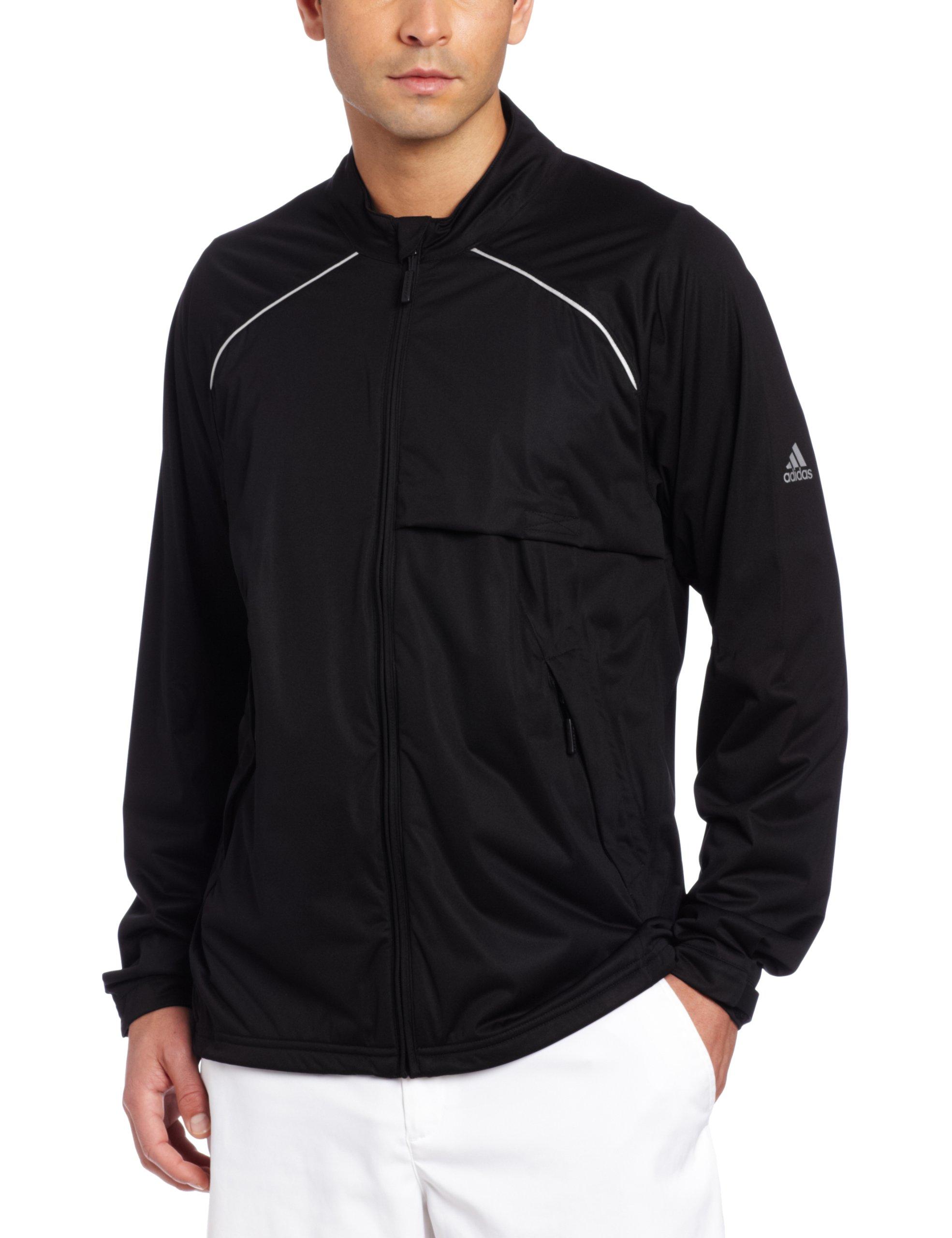 adidas Golf Men's Climaproof Storm Soft Shell Jacket, Black, X-Large by adidas