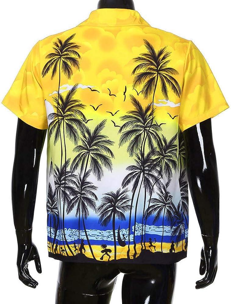 Overdose Camisas Hombre De Verano Hawaiana Camisas Hombre Hippie Camisas Hombre Informales Manga Corta Camisas Hombre Flores Camisas Hombre para Bodas: Amazon.es: Ropa y accesorios