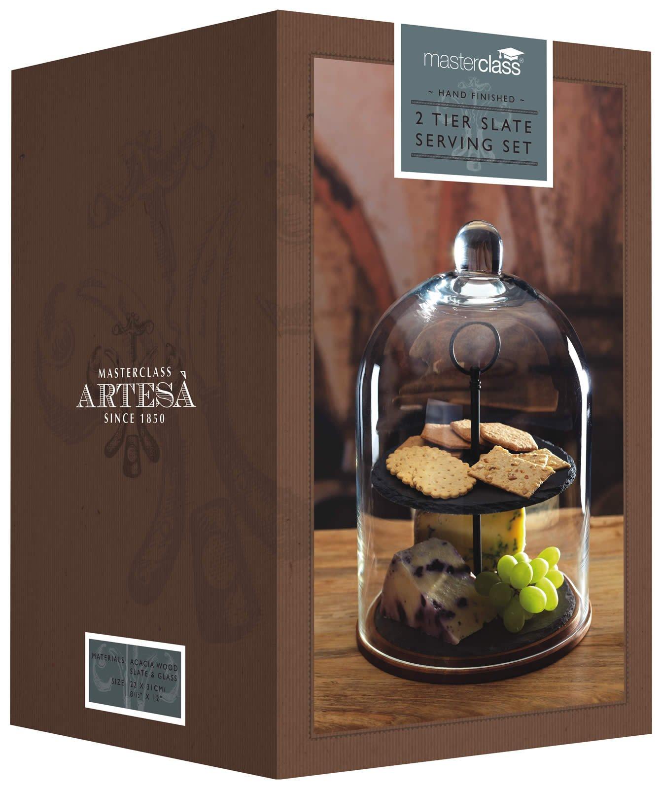 Masterclass Artesà 2-tier Serving Stand / Cake Dome, 22 x 31cm (8.5'' x 12'') by Artesa (Image #3)