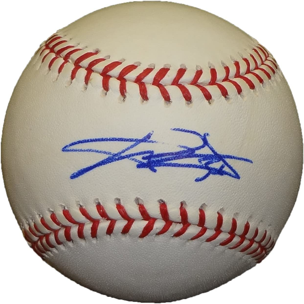 C.J. Wilson Autographed Official Major League Baseball W/PROOF, Picture of CJ Signing For Us, Texas Rangers, 2010 World Series, 2011 World Series, Los Angeles Angels of Anaheim 71LYJBNuNsL