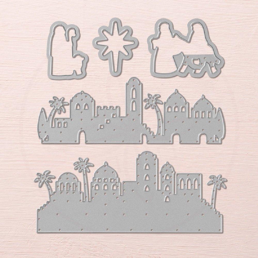 TTLIFE Bethlehem Metal Cutting Dies Embossing Stencil Card Album ...