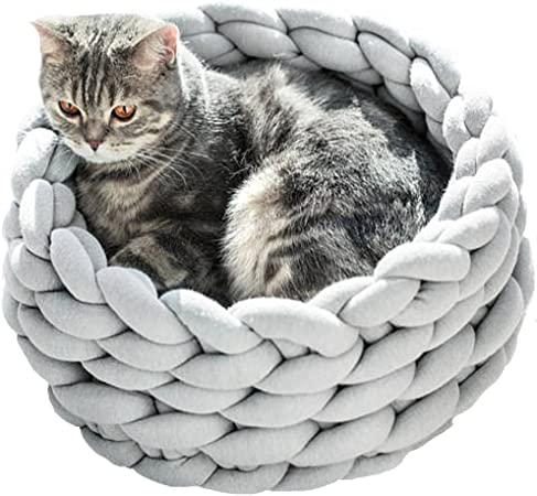 Dog bed Cats Pet bed Knitted pet bed Pets bed Chunky yarn Knit pet bed Pet supplies Chunky pet bed Cat bed Cat furniture 3 colors Chunky cat bed