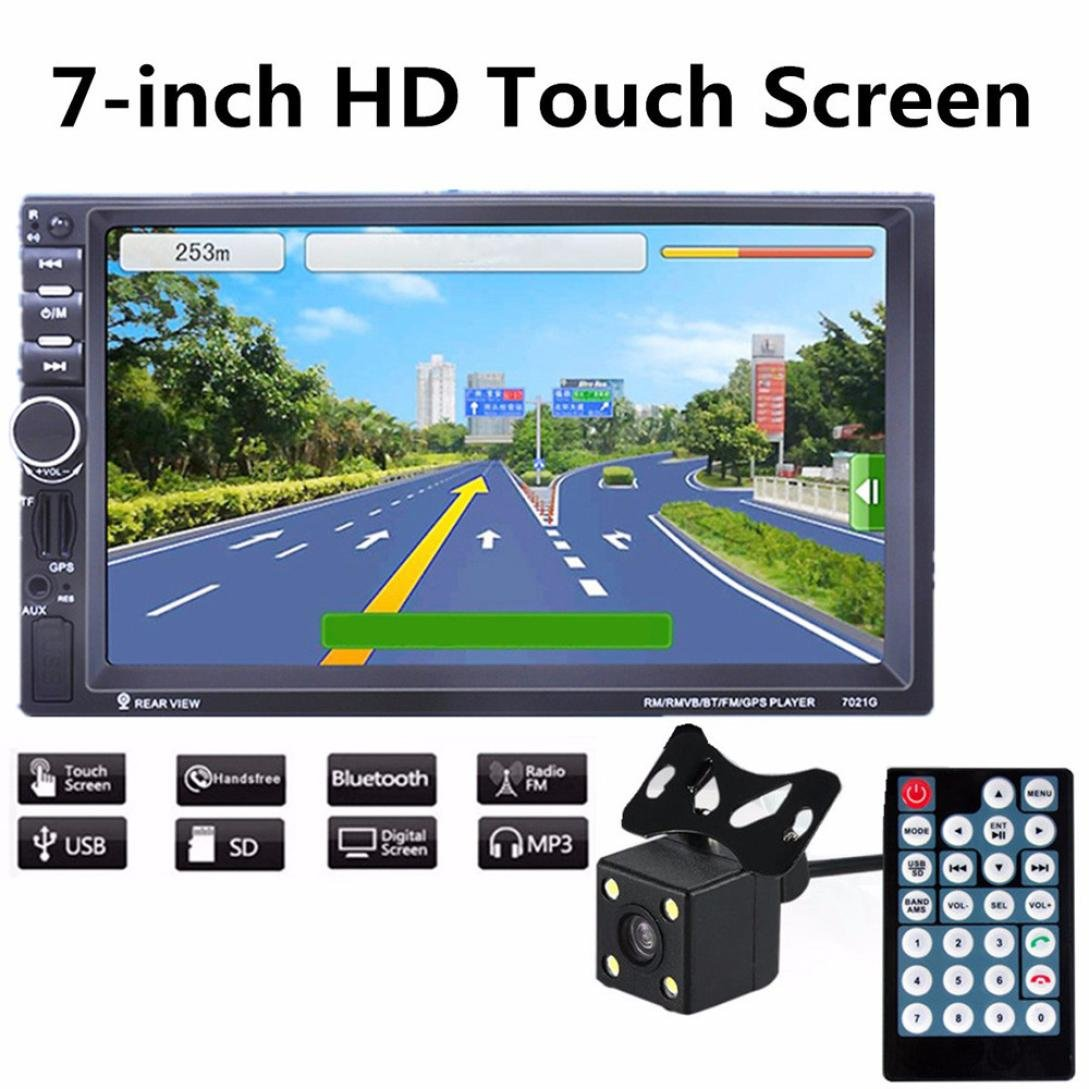 Dreamyth GPS Navigation HD Double 2 DIN Car Stereo MP5 Player Bluetooth Radio In Dash+Cam by Dreamyth