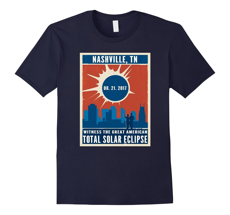 Vintage Nashville, Tennessee Solar Eclipse August 2017 shirt-BN