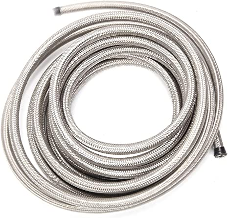 Stainless Steel Braided AN Flex Hose For  Oil Fuel Hose Line Price Per Meter