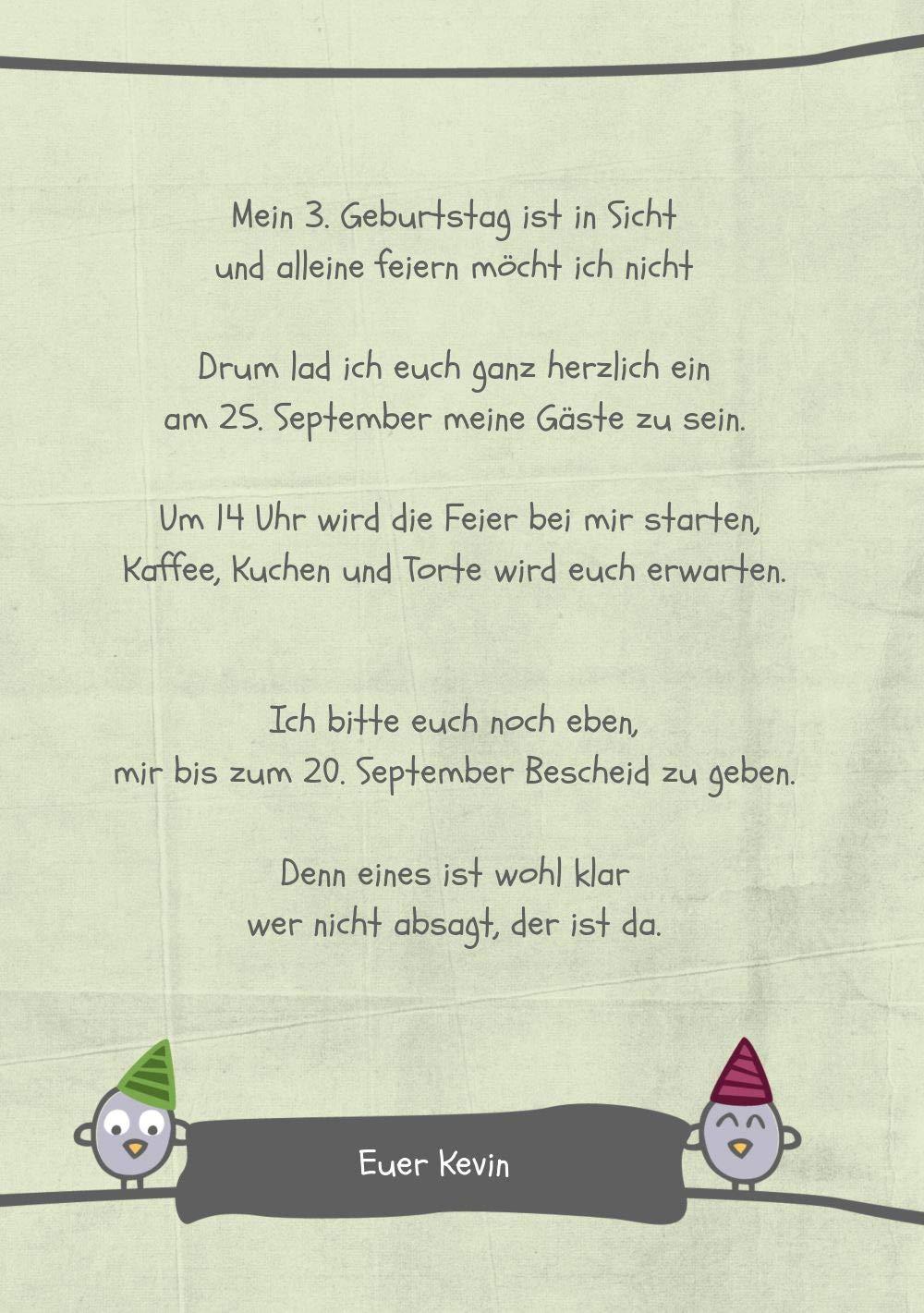 Einladung zum Geburtstag Foto Vogelfest, Vogelfest, Vogelfest, 20 Karten, PastellHellGrün B07L122DVL | Leicht zu reinigende Oberfläche  | Trendy  | Vielfalt  57dd5d