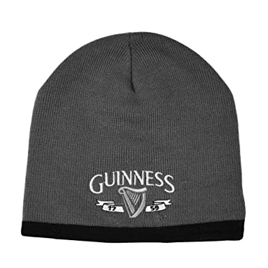 8e714b73525 Image Unavailable. Image not available for. Colour  Guinness Charcoal Black  Harp Knit One Size Hat