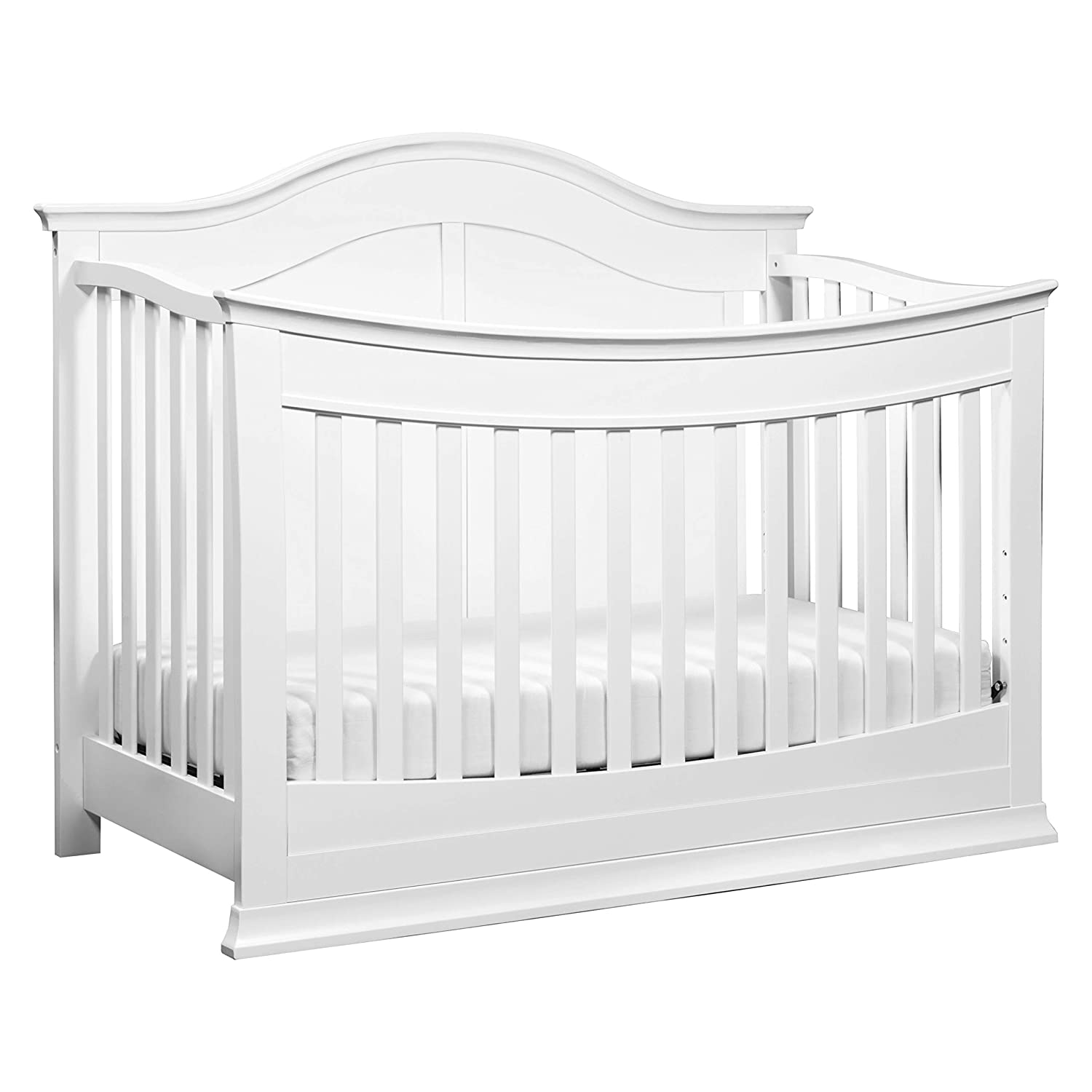 DaVinci Meadow 4-in-1 Convertible Crib with Toddler Bed Conversion Kit in White Greenguard Gold Certified