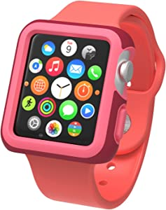 Speck Products CandyShell Fit Case for Apple Watch 42mm, Crimson Red/Splash Pink