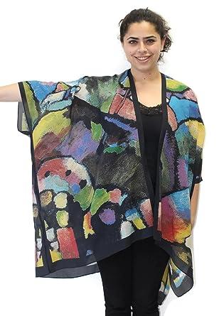8762b604d4f Women s Evening Jewels Silk Long Kimono Jacket Oversized One Size ...