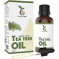 Tea Tree Oil Organic 50ml med Pipett - 100% naturlig eterisk olja från Australien, vegan - Tea Tree Olja för användning…