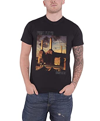 a2de93d6 Pink Floyd T Shirt Animals Classic Album Cover Band Logo Official Mens Black:  Amazon.co.uk: Clothing