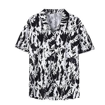 AG&T Funky Camisa Hawaiana Señores Manga Corta Bolsillo Delantero ...