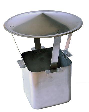 Regenhaube 130mm Edelstahl Schornsteinabdeckung