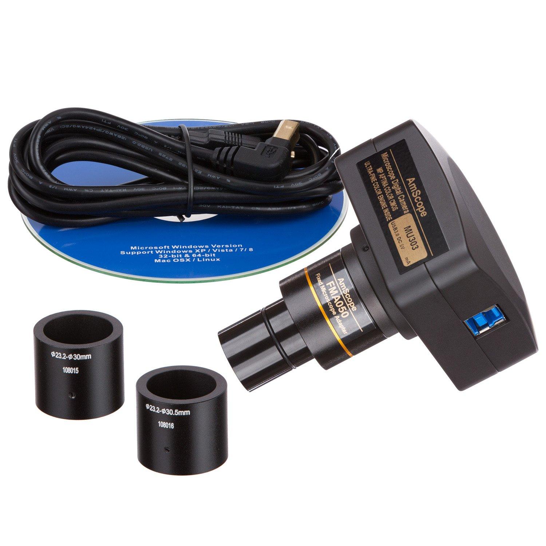 Amscope MU303 3 MP USB3.0 Live in tempo reale video microscopio digitale fotocamera
