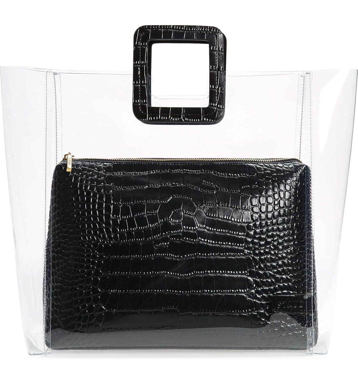 [ステゥド] レディース トートバッグ STAUD Large Shirley Transparent Handbag [並行輸入品] B07P54MXXM  One-Size