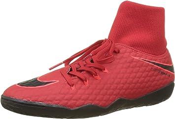 Nike Hypervenomx Phelon III 3 DF Men 11.5 Indoor Soccer Red Black  917768-616