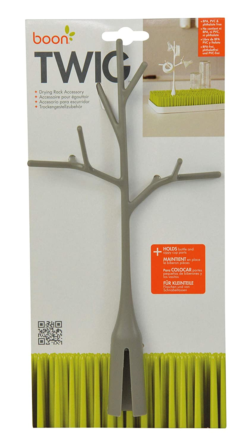 Warm Gray Bottle Holder Storage Drying Rack Whybee B357 Boon TWIG Grass Accessory