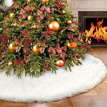 "Christmas Tree Skirt 48/"" WHITE//CREAM"