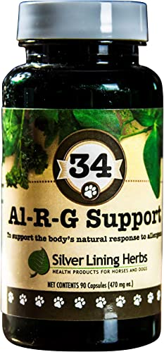 Silver Lining Herbs Al-r-g Canine Allergy Support 12 Natural Herbs to Boost A Dogs Healthy, Normal and Natural Response to Allergens Natural, Safe, Effective