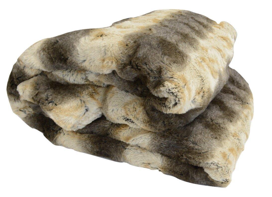 best White Sherpa Back Throw Blanket