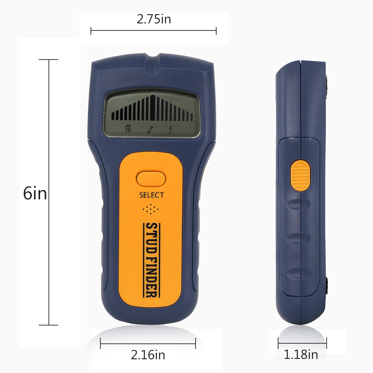 Stud Finder, Multifunction Edge-Finding wall Stud Finder & Sensor for Wood Metal/Wall Studs/AC Wire (yellow) (stud finder8) by imoocare (Image #3)