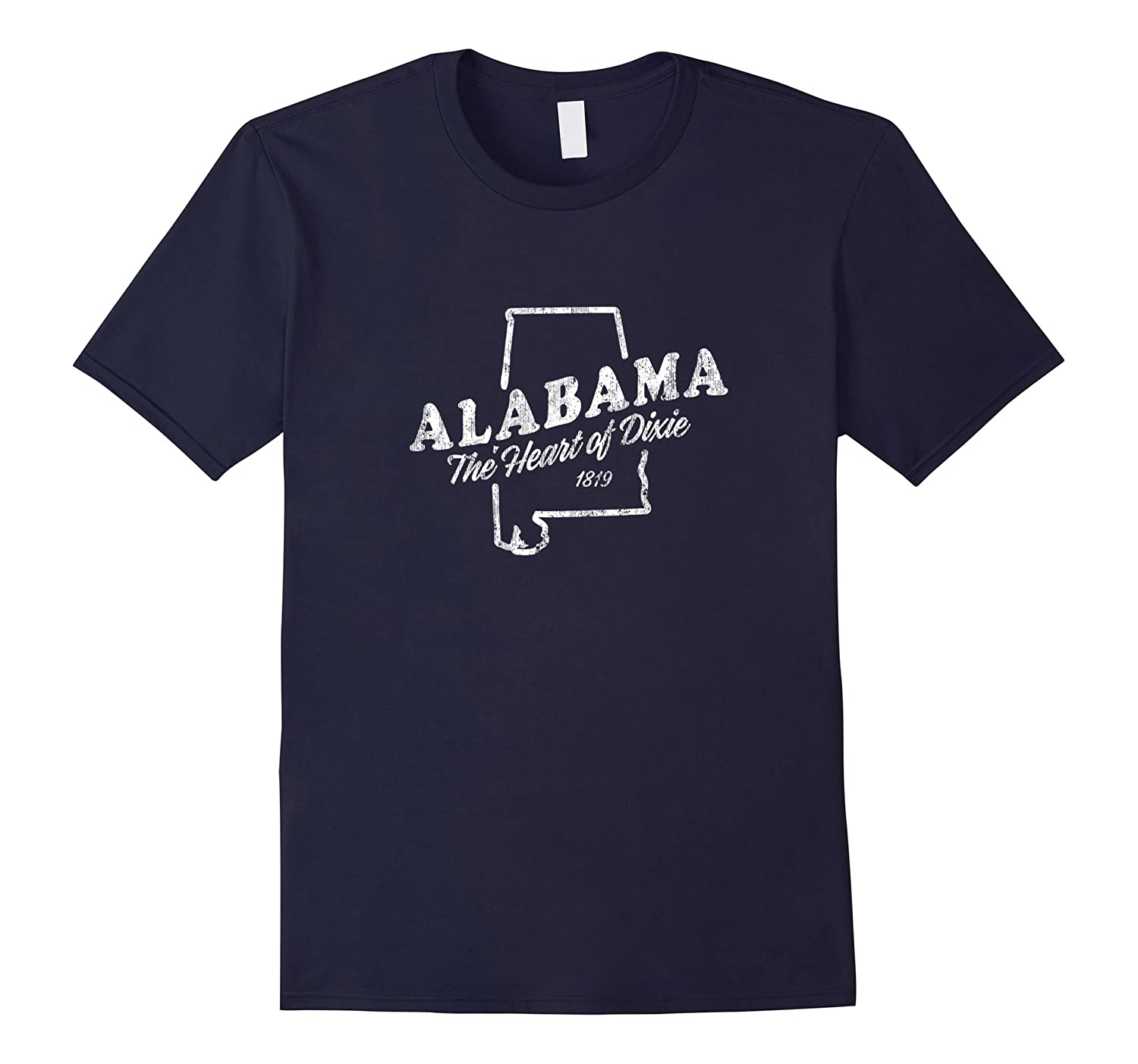 Alabama T-Shirt Vintage Graphic Tee Design Heart of Dixie-T-Shirt