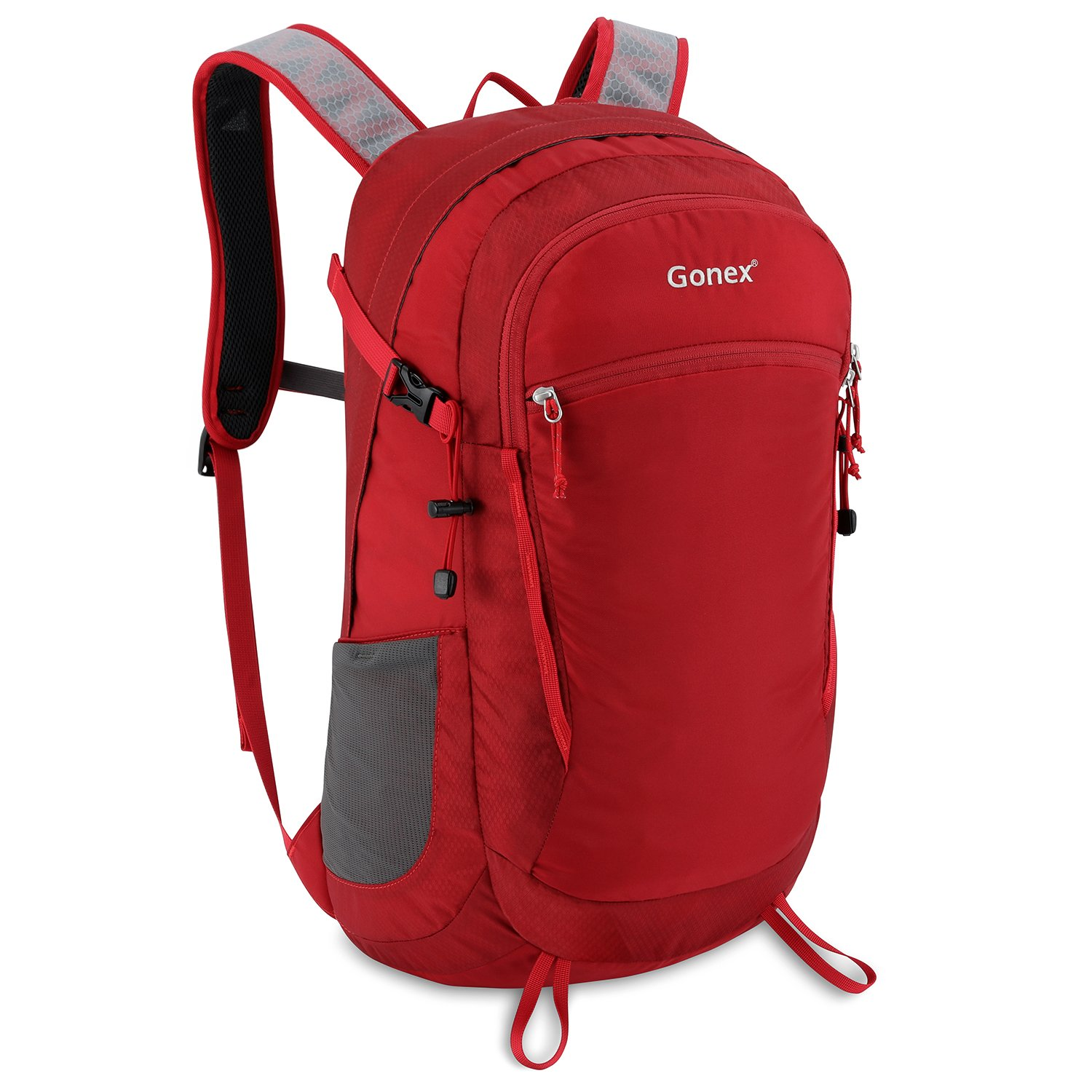 Gonex 35L Travel Hiking Backpack Water Repellent for Outdoor Trekking Camping Climbing Mountaineering(Red)