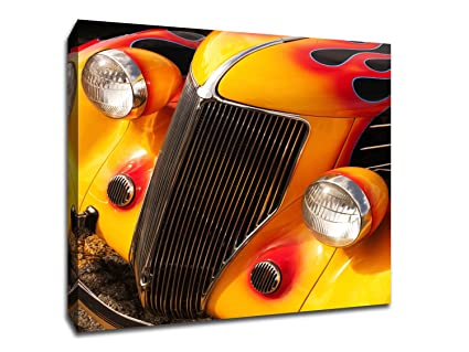 Amazon.com: Hot Rod Flame - Cars Collection - 13x13 Gallery Wrapped ...